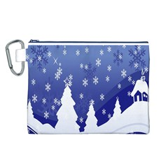 Vector Christmas Design Canvas Cosmetic Bag (l)