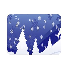 Vector Christmas Design Double Sided Flano Blanket (mini)