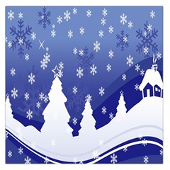 Vector Christmas Design Large Satin Scarf (Square)