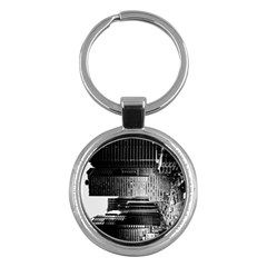 Urban Scene Street Road Busy Cars Key Chains (Round)