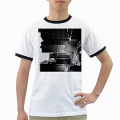 Urban Scene Street Road Busy Cars Ringer T-Shirts
