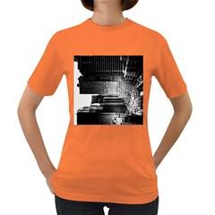 Urban Scene Street Road Busy Cars Women s Dark T Shirt