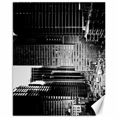 Urban Scene Street Road Busy Cars Canvas 11  x 14