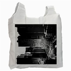 Urban Scene Street Road Busy Cars Recycle Bag (two Side)