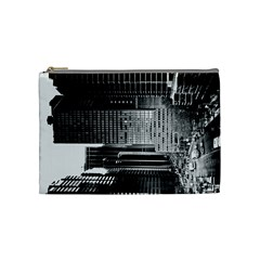 Urban Scene Street Road Busy Cars Cosmetic Bag (Medium)