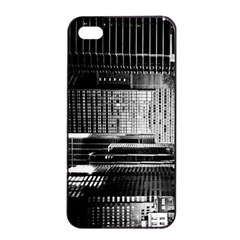 Urban Scene Street Road Busy Cars Apple iPhone 4/4s Seamless Case (Black)
