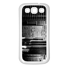 Urban Scene Street Road Busy Cars Samsung Galaxy S3 Back Case (white)