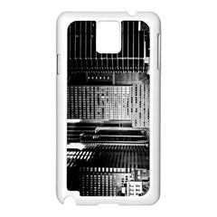 Urban Scene Street Road Busy Cars Samsung Galaxy Note 3 N9005 Case (White)