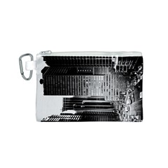 Urban Scene Street Road Busy Cars Canvas Cosmetic Bag (s)