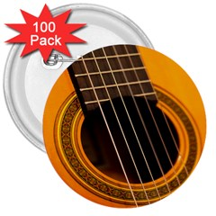 Vintage Guitar Acustic 3  Buttons (100 pack)