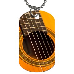 Vintage Guitar Acustic Dog Tag (Two Sides)