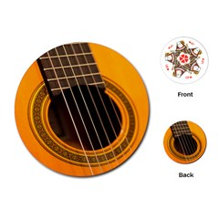 Vintage Guitar Acustic Playing Cards (round)