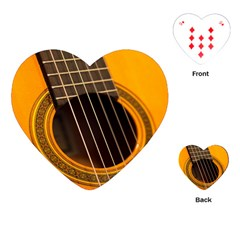 Vintage Guitar Acustic Playing Cards (Heart)