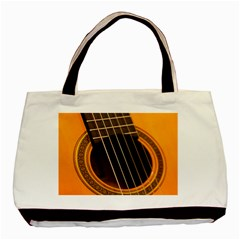 Vintage Guitar Acustic Basic Tote Bag