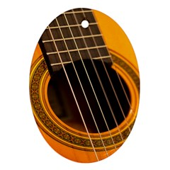 Vintage Guitar Acustic Oval Ornament (Two Sides)