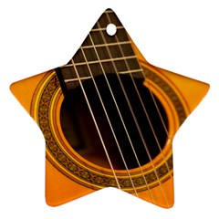 Vintage Guitar Acustic Star Ornament (Two Sides)