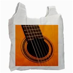 Vintage Guitar Acustic Recycle Bag (one Side)