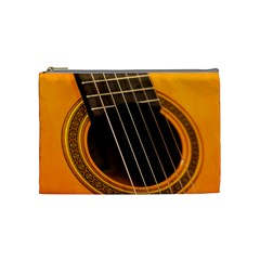 Vintage Guitar Acustic Cosmetic Bag (Medium)