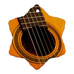 Vintage Guitar Acustic Snowflake Ornament (Two Sides) Front