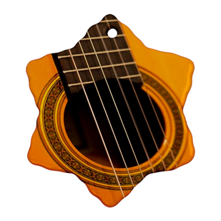 Vintage Guitar Acustic Snowflake Ornament (Two Sides)