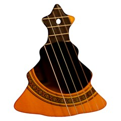 Vintage Guitar Acustic Christmas Tree Ornament (Two Sides)
