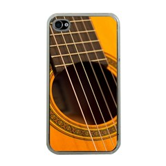 Vintage Guitar Acustic Apple iPhone 4 Case (Clear)
