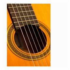 Vintage Guitar Acustic Small Garden Flag (two Sides)