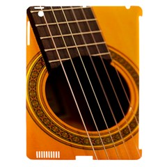 Vintage Guitar Acustic Apple Ipad 3/4 Hardshell Case (compatible With Smart Cover)