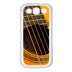 Vintage Guitar Acustic Samsung Galaxy S3 Back Case (white)