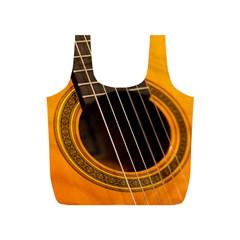 Vintage Guitar Acustic Full Print Recycle Bags (S)