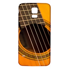 Vintage Guitar Acustic Samsung Galaxy S5 Back Case (white)