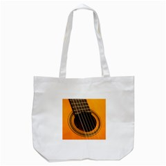 Vintage Guitar Acustic Tote Bag (white)