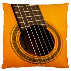Vintage Guitar Acustic Large Flano Cushion Case (two Sides)