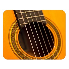 Vintage Guitar Acustic Double Sided Flano Blanket (large)