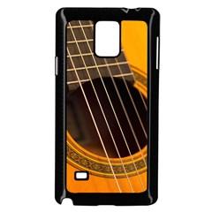 Vintage Guitar Acustic Samsung Galaxy Note 4 Case (black)