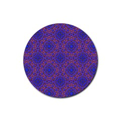 Tile Background Image Pattern Rubber Round Coaster (4 pack)