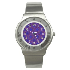 Tile Background Image Pattern Stainless Steel Watch