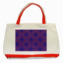 Tile Background Image Pattern Classic Tote Bag (red)
