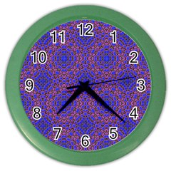 Tile Background Image Pattern Color Wall Clocks