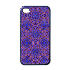 Tile Background Image Pattern Apple iPhone 4 Case (Black)