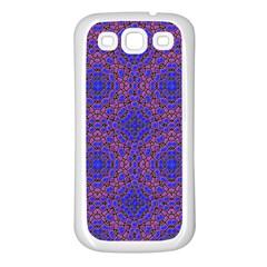 Tile Background Image Pattern Samsung Galaxy S3 Back Case (White)