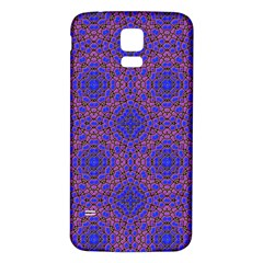 Tile Background Image Pattern Samsung Galaxy S5 Back Case (White)