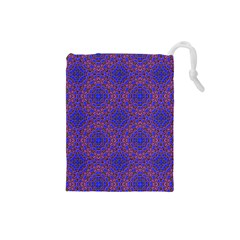Tile Background Image Pattern Drawstring Pouches (small)