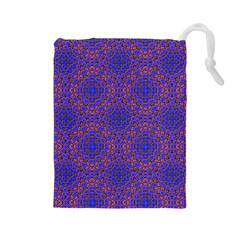 Tile Background Image Pattern Drawstring Pouches (large)