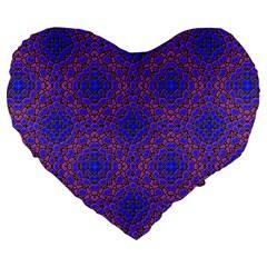 Tile Background Image Pattern Large 19  Premium Flano Heart Shape Cushions