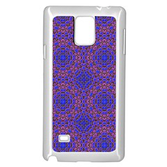 Tile Background Image Pattern Samsung Galaxy Note 4 Case (White)