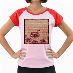 Vintage Music Sheet Song Musical Women s Cap Sleeve T-Shirt