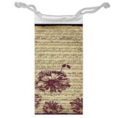 Vintage Music Sheet Song Musical Jewelry Bag