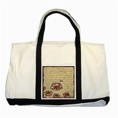 Vintage Music Sheet Song Musical Two Tone Tote Bag