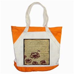 Vintage Music Sheet Song Musical Accent Tote Bag